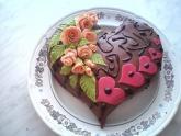 Торт в виде сердца фото рецепт